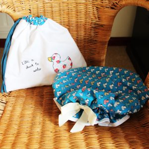 Mother's Day gift making – bath hats and bags