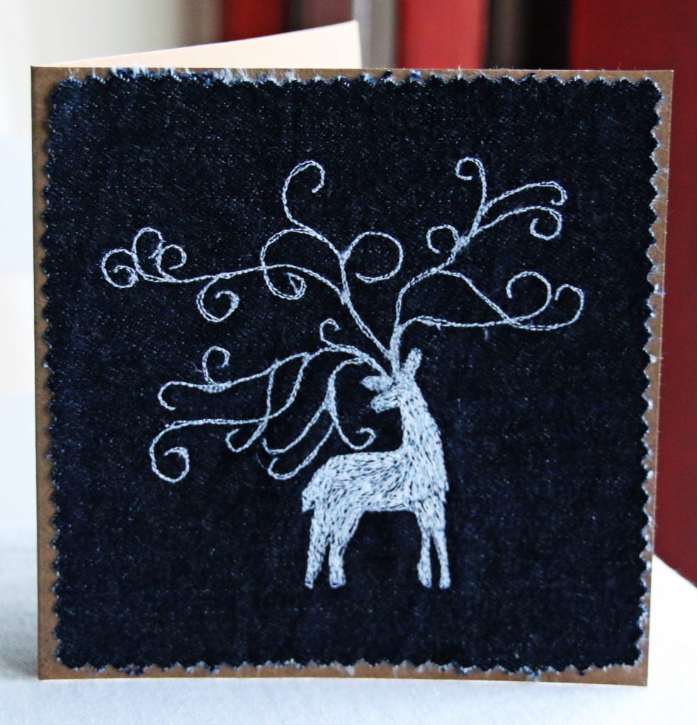 Recording a card design – the stag card