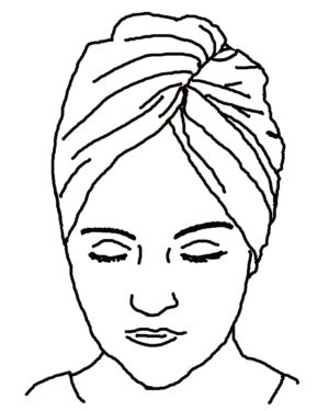 Hair Towel Turban – Sewing Pattern