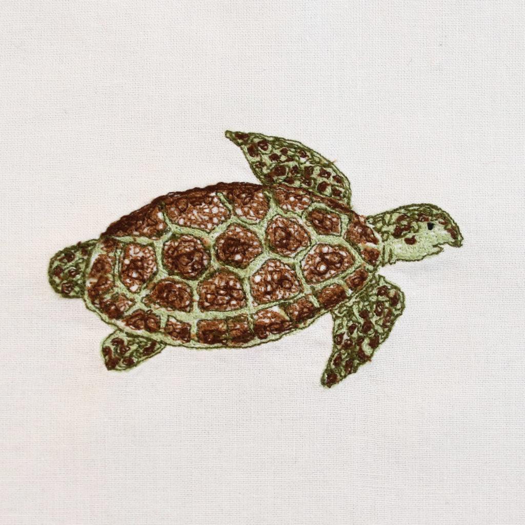 Machine Embroidery Sea Turtle