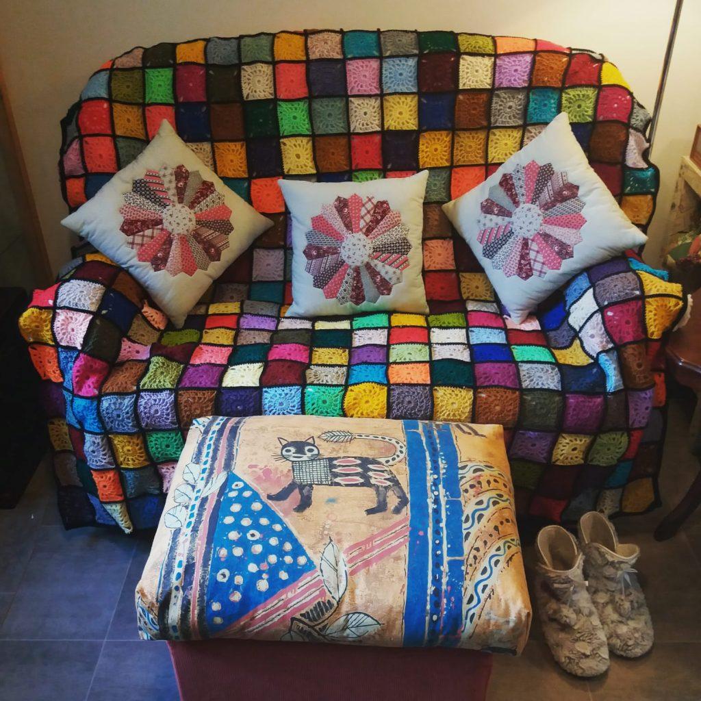 Homemade crochet blanket